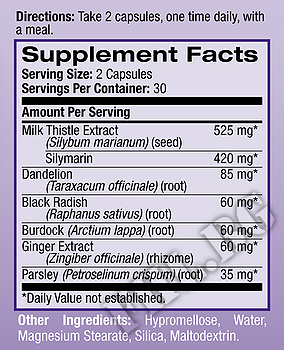 Съдържание » Дозировка » Прием » Как се пие »  Milk Thistle Advantage  » Natrol » Черен Дроб