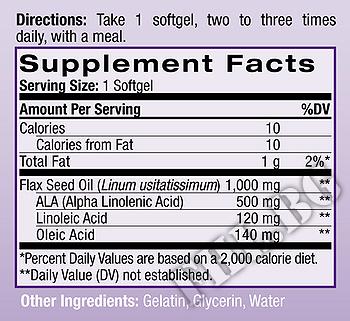 Съдържание » Дозировка » Прием » Как се пие » Flaxseed Oil 120 caps » Natrol » Омега 3 Ленено масло