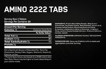 Съдържание » Дозировка » Прием » Как се пие » Superior Amino 2222 320 tabs » Optimum Nutrition » Аминокиселини