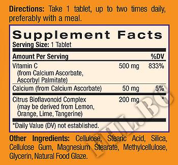 Съдържание » Дозировка » Прием » Как се пие » Easy-C 500mg 225 таблетки » Natrol » Витамин C