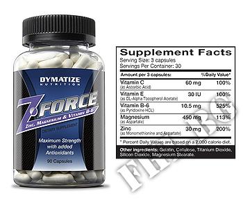 Съдържание » Дозировка » Прием » Как се пие » Z-FORCE  » Dymatize  » Витамини и минерали