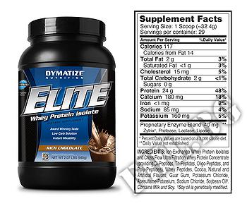 Съдържание » Дозировка » Прием » Как се пие »  Elite whey protein 2lbs » Dymatize  » Суроватъчен протеин