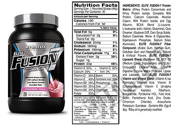 Съдържание » Дозировка » Прием » Как се пие » Elite Fusion 7 2.91lbs » Dymatize  » Протеинова матрица