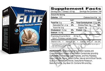 Съдържание » Дозировка » Прием » Как се пие » Elite whey protein 10lb » Dymatize  » Суроватъчен протеин