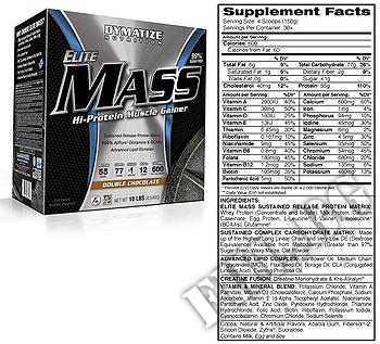 Съдържание » Дозировка » Прием » Как се пие » Elite mass gainer 10lbs » Dymatize  » Качване на мускулна маса
