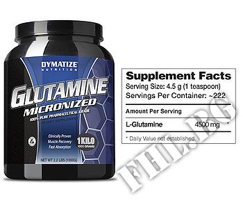 Съдържание » Дозировка » Прием » Как се пие » Glutamine Micronized 1кг » Dymatize  » Глутамин