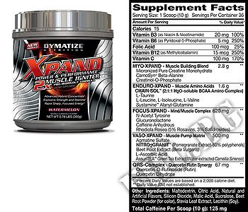Съдържание » Дозировка » Прием » Как се пие » Xpand 2X 0.793 lbs. » Dymatize  » Топ 10 Азотни бустери